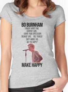 Bo Burnham Make Happy Women's Fitted Scoop T-Shirt