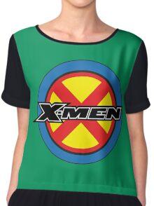 X-MEN Logo Chiffon Top
