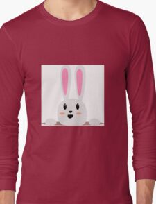 A Happy Smiling Bunny Long Sleeve T-Shirt