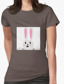 A Happy Smiling Bunny Womens Fitted T-Shirt