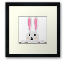 A Happy Smiling Bunny Framed Print