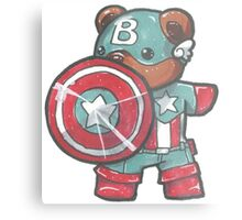Captain A-bear-ica Metal Print