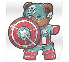 Captain A-bear-ica Poster