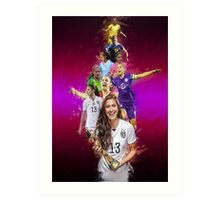 Alex Morgan From University Of California, Berkeley to Orlando Pride + National Team Art Print