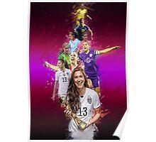 Alex Morgan From University Of California, Berkeley to Orlando Pride + National Team Poster