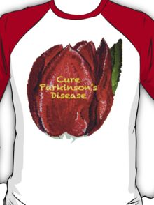 Tulip Painted- Cure Parkinson's Disease T-Shirt