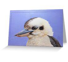 Kookaburra mugshot - Laughing kookaburra (Dacelo novaeguineae) Greeting Card