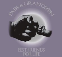 Papa And Grandson Best Friends For Life Kids Tee