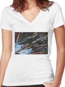 macross Women's Fitted V-Neck T-Shirt