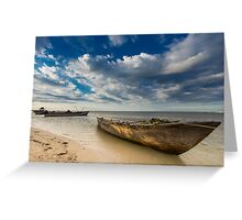 Fishing Boats in the Ocean Greeting Card