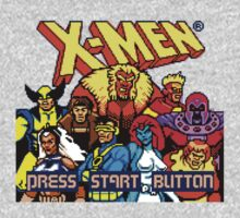 X-MEN Retro Game Design One Piece - Short Sleeve