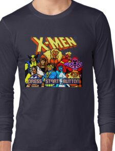 X-MEN Retro Game Design Long Sleeve T-Shirt