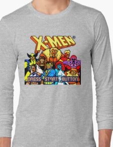 X-MEN Retro Game Design Long Sleeve T-Shirt