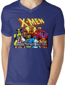 X-MEN Retro Game Design Mens V-Neck T-Shirt