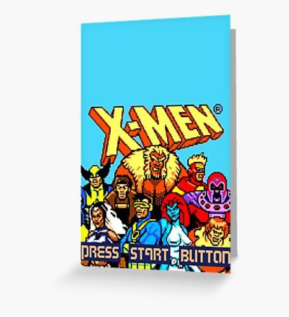 X-MEN Retro Game Design Greeting Card