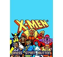 X-MEN Retro Game Design Photographic Print