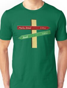 To the Beach, Food & Drink Unisex T-Shirt