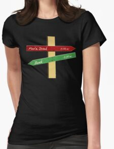 To the Beach, Food & Drink Womens Fitted T-Shirt