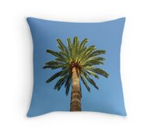 Cap Ferrat Palm Tree Cushion Throw Pillow