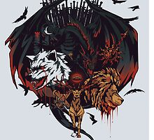 Valar Morgulis Game of Thrones houses by Kris Armitage