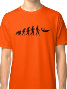 Funny Skydiving Evolution Of Man Classic T-Shirt