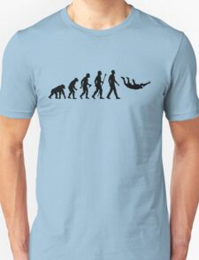 Funny Skydiving Evolution Of Man Unisex T-Shirt