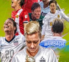 Abby Wambach From University of Florida to WNYFlash + National Team Sticker