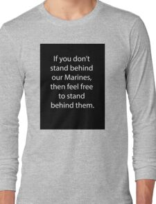 Support Marines Long Sleeve T-Shirt