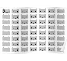 Pixel Chart (Furry Ver.) Poster