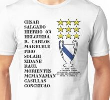 Real Madrid 2002 Champions League Winners Unisex T-Shirt