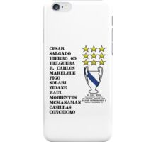 Real Madrid 2002 Champions League Winners iPhone Case/Skin