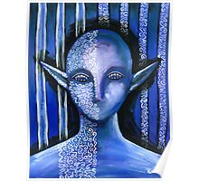 Blue Lace Elf Poster