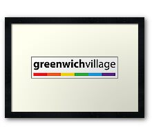 Greenwich Village LGBT Pride Framed Print