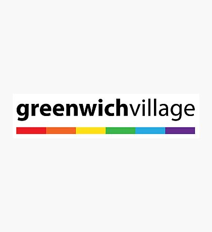Greenwich Village LGBT Pride Photographic Print