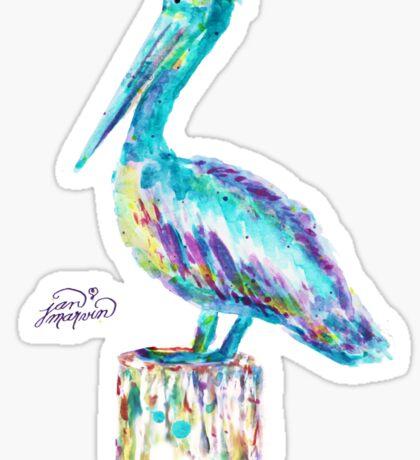 Pelican watercolor Sticker