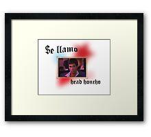 Tony Montana head honcho  Framed Print