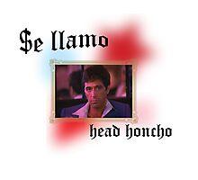 Tony Montana head honcho  Photographic Print