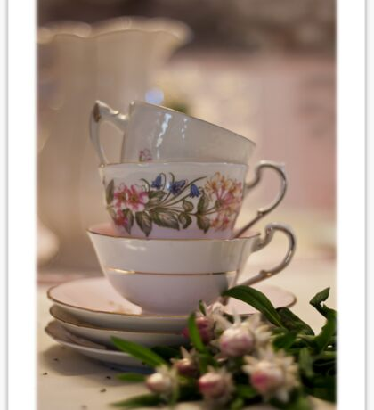 Tea Cups Still Life  Sticker