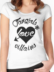 Fangirls love villains.  Women's Fitted Scoop T-Shirt