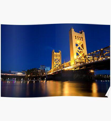 Sacramento Bridge Poster