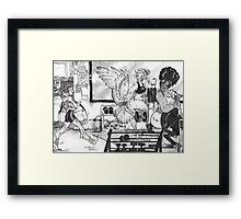 Monster Muscles  Framed Print
