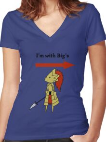 I'm with bigg's Women's Fitted V-Neck T-Shirt