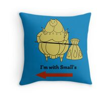 I'm with small's Throw Pillow