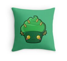 Spooky Cupcake - Swamp Thing Throw Pillow