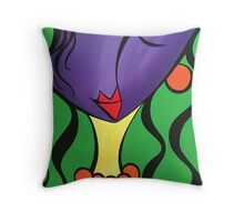 Wind swept lady! Throw Pillow