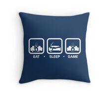 Eat, Sleep, Game (Console Version) Throw Pillow