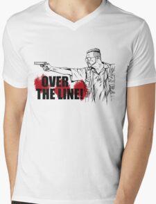 Over the Line! Mens V-Neck T-Shirt