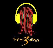 Tribe 3 Vibes Pillow  by Jeffrey Garcia