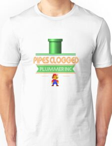 Clogged Pipes Call  Mario Unisex T-Shirt