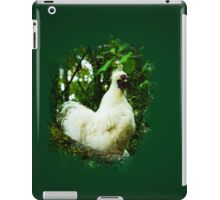 White Silkie Rooster iPad Case/Skin